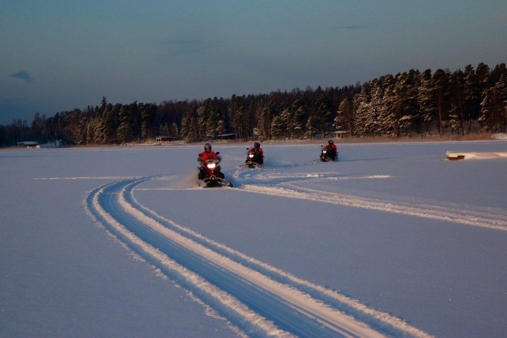 Snowmobile Helsinki archipelago Finland