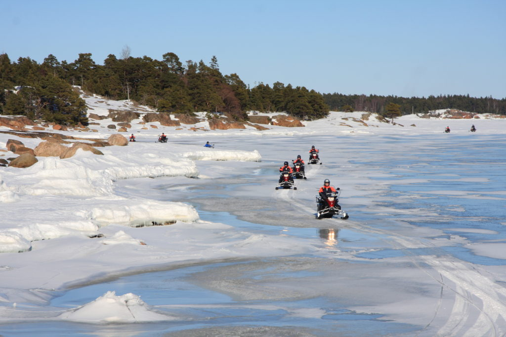 Snowmobile tour Finland Helsinki