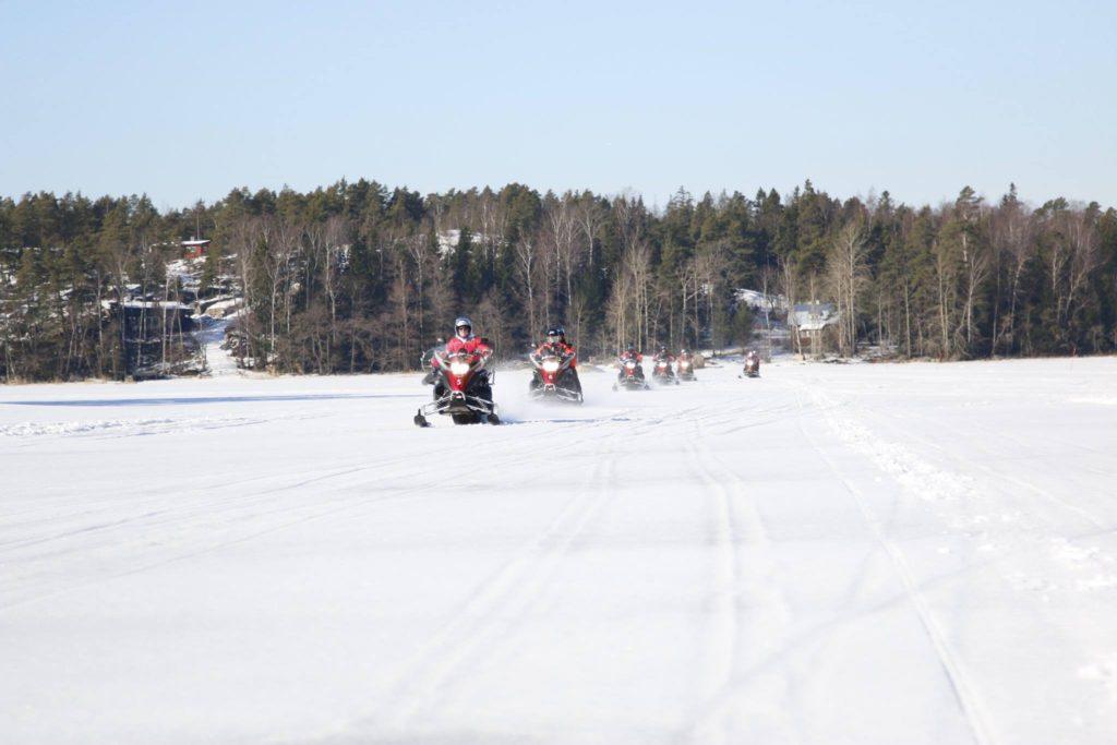 Snowmobile tour in Helsinki