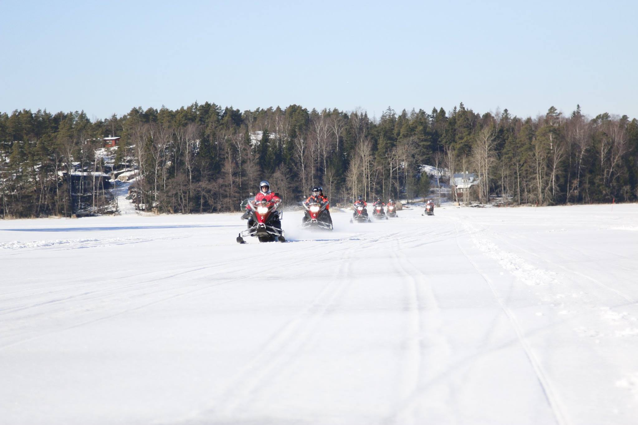 Snowmobile tour in Helsinki