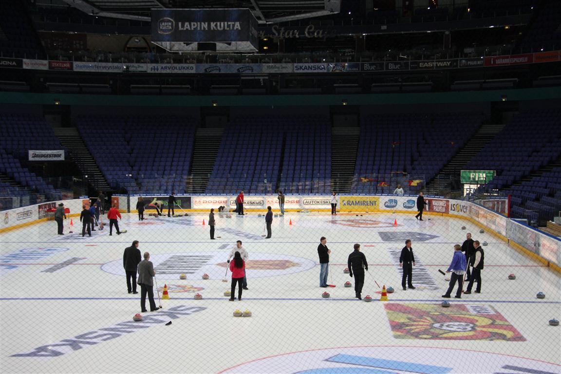 Curling Hartwall areena helsinki