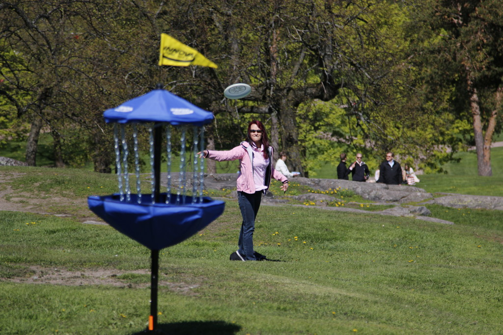 Frisbee golf Burn Out City