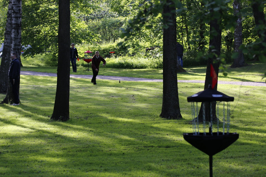 Frisbee golf kulosaari