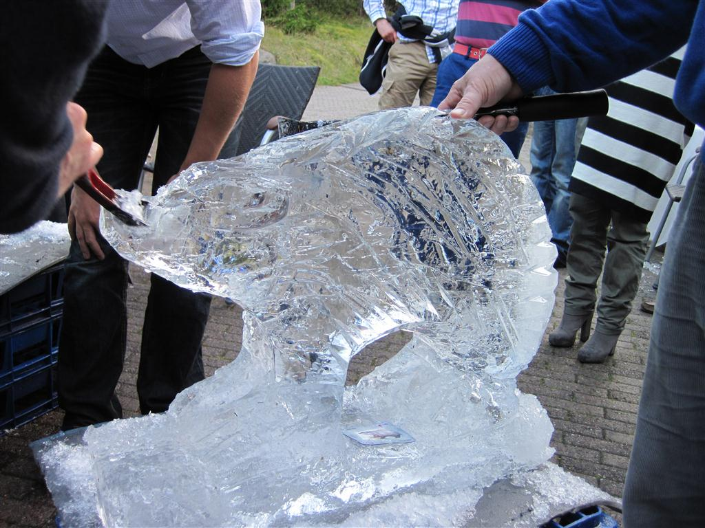 Ice carving event