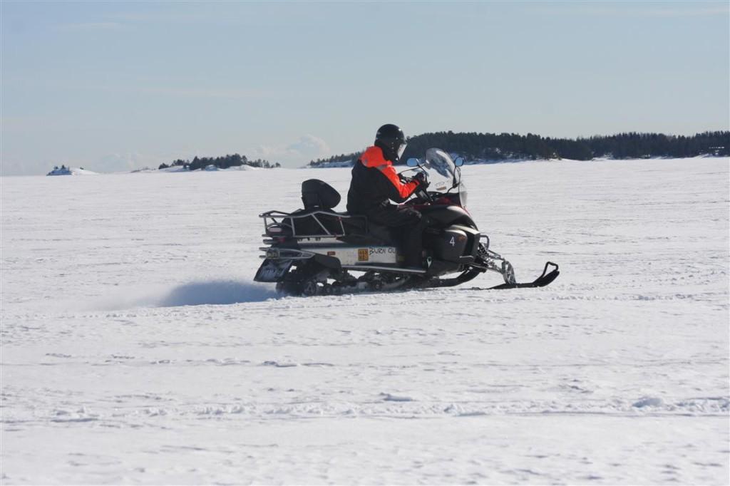 snowmobile finlnd archipelago