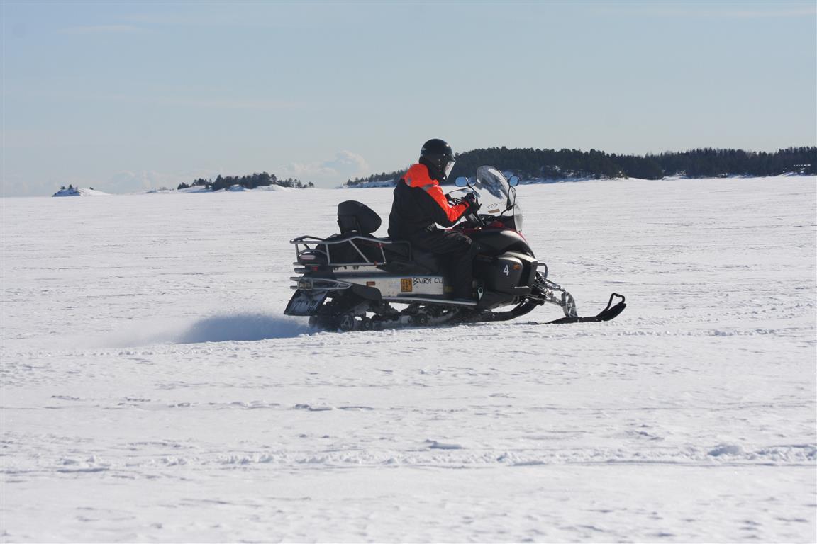 snowmobile finland archipelago