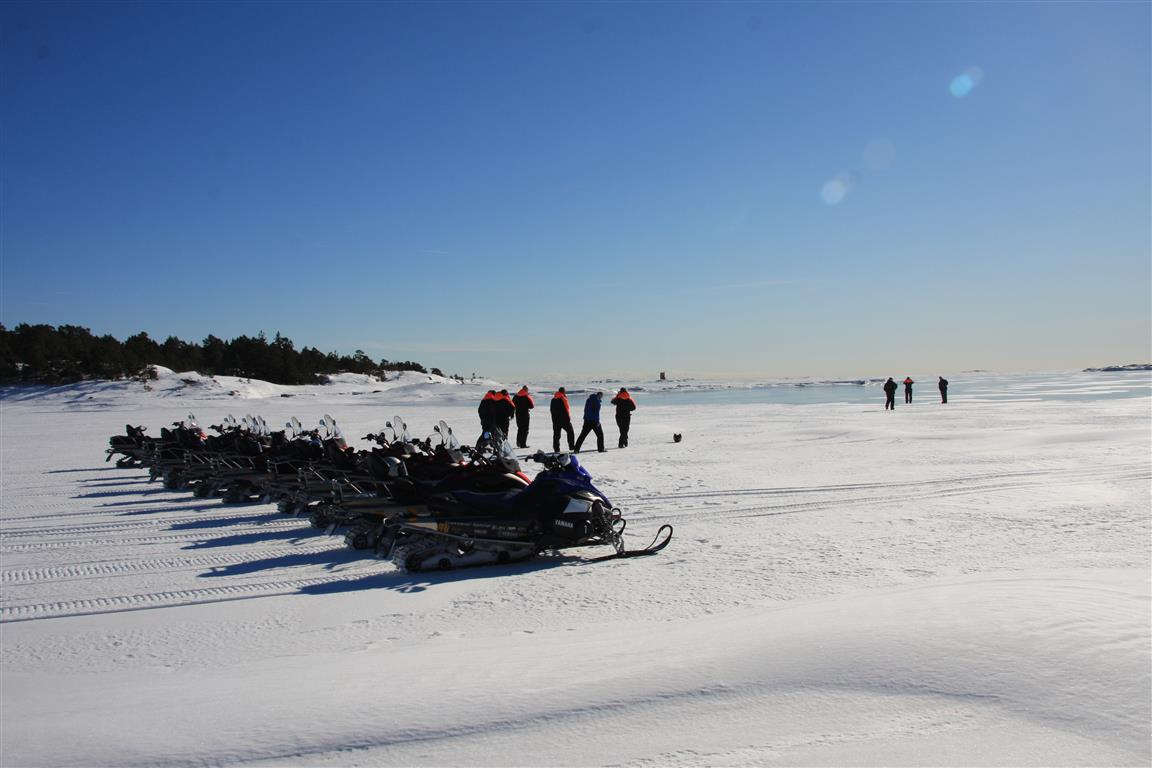 snowmobile in helsinki