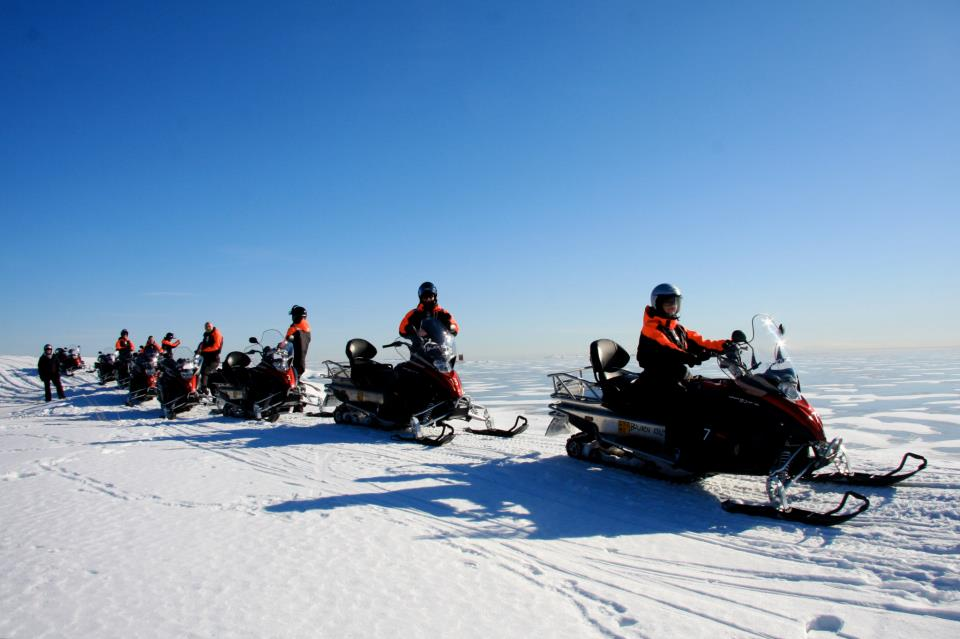 snowmobile outside helsinki