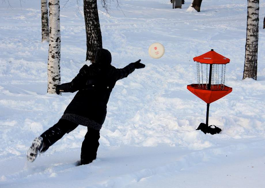 frisbeegolf aktiviteetti