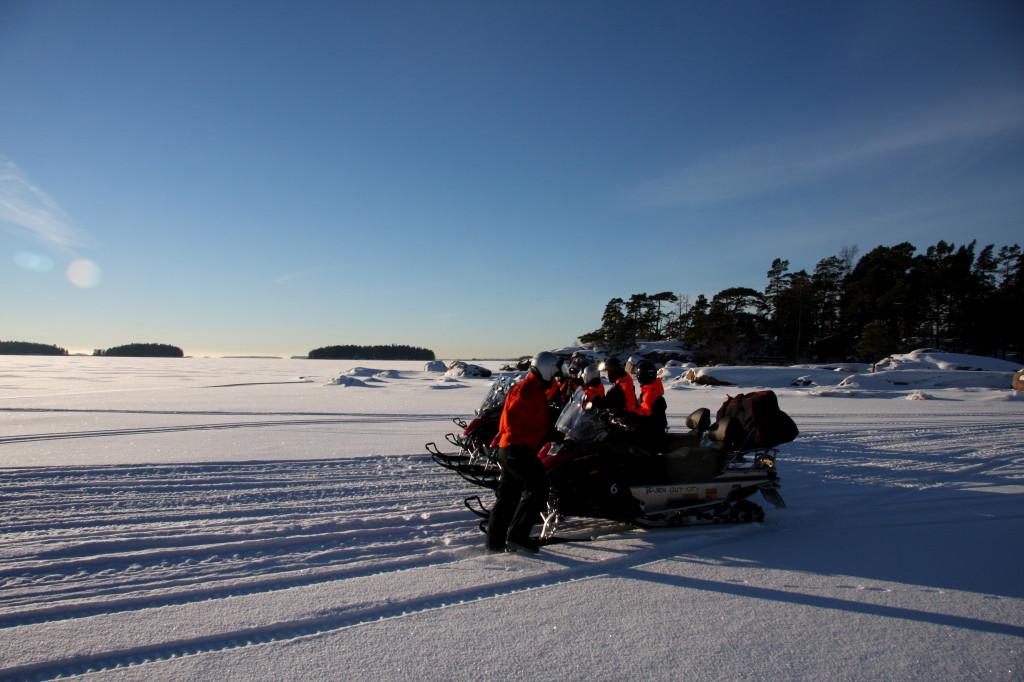 moottorikelkkasafari Helsingin saaristossa