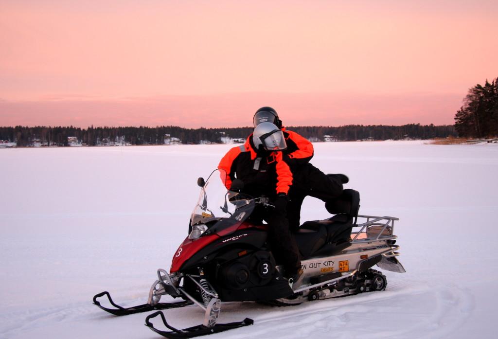 snowmobile safari near helsinki