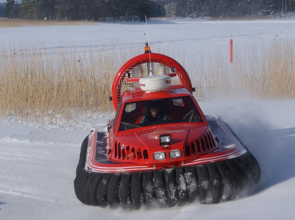 Hovercraft archipelago tour Helsinki